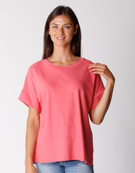 T-shirt manica 3/4 in cotone organico, corallo, , LOVABLE