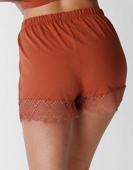 Pantaloncino pigiama Trendy Lace in modal, terra di Siena, , LOVABLE