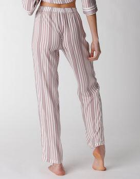 Pantalone del pigiama in tela di viscosa, rigato, , LOVABLE