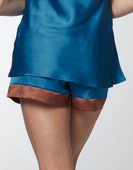 Pantaloncino pigiama Jungle Satin in satin, blu zaffiro, , LOVABLE