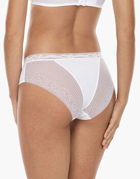 Slip medio Invisible Exclusive bianco in microfibra e pizzo-LOVABLE