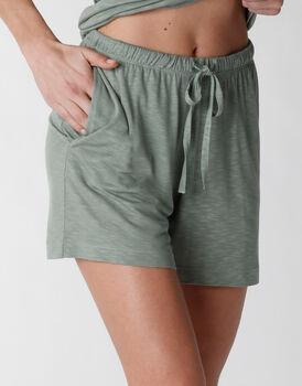 Pantaloncino del pigiama in viscosa, verde, , LOVABLE