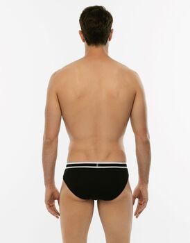 Slip Easy Trend nero in cotone elasticizzato-LOVABLE