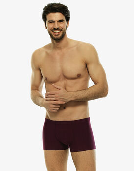 Short boxer bordeaux in cotone modal tinto in filo-LOVABLE