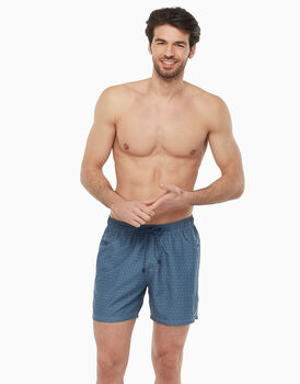 Costume boxer in tessuto mano pesca, blu stampa pois, , LOVABLE