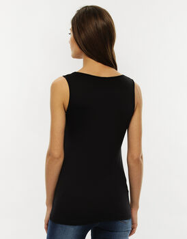 Canotta Basic Soul, nero, in microfibra-LOVABLE