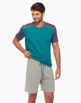 Pigiama corto in jersey, verde, , LOVABLE
