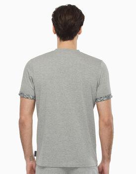 T-shirt in jersey, grigio melange, , LOVABLE