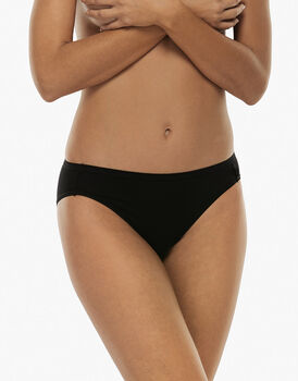 Slip mini lovely, nero in cotone soft, , LOVABLE