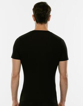 T-shirt in cotone elasticizzato, nera, , LOVABLE