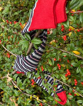 Calza lunga candy stripes, a righe multicolor, , LOVABLE
