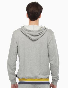 Felpa in cotone, grigio melange, , LOVABLE