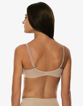 Reggiseno ferretto doppio strato millennium equilibre skin, in microfibra comfort e invisibilità., , LOVABLE
