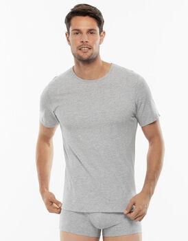 T-shirt girocollo 100% Pure Cotton grigio melange in cotone-LOVABLE