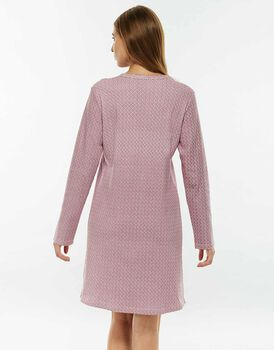 Camicia da notte, visone stampa blush, in interlock-LOVABLE