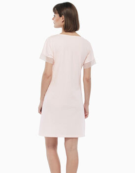 Camicia da notte in jersey di cotone, stampa a fiori, , LOVABLE