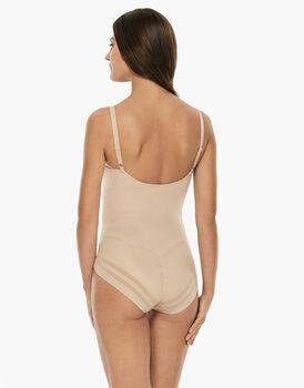 Body ferretto senza imbottitura Generous New Fit, skin, in microfibra. Alto sostegno e invisibilità-LOVABLE