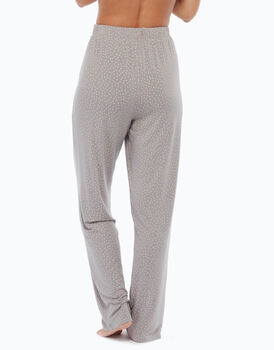 Pantalone lungo  in cotone modal, stampa a pois, , LOVABLE