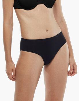 Slip midi Invisible Cotton nero in cotone. Massima invisibilità, , LOVABLE