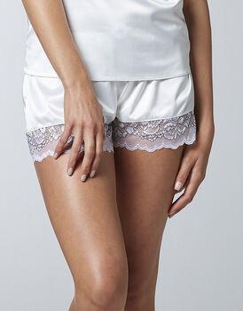 Culotte in satin monoelastico, bianco lana, , LOVABLE