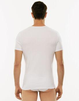 T-Shirt girocollo Cotton Stretch bianco in cotone elasticizzato-LOVABLE
