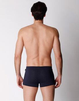 Boxer in cotone modal, blu navy stampato, , LOVABLE