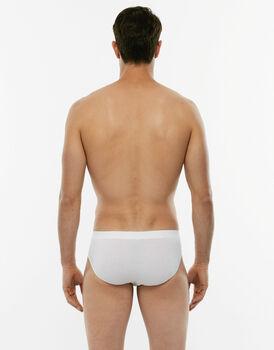 Slip midi Cotton Stretch bianco in cotone elasticizzato-LOVABLE