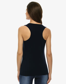 Top Basic Soul Blu notte in cotone supima-LOVABLE