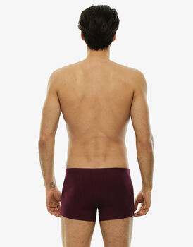 Short boxer bordeaux in cotone modal tinto in filo-LOVABLE