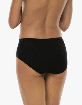 Slip midi lovely, nero in cotone soft, , LOVABLE