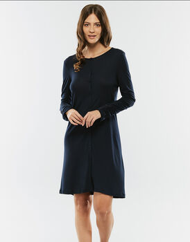 Camicia da notte blu notte in modal-LOVABLE