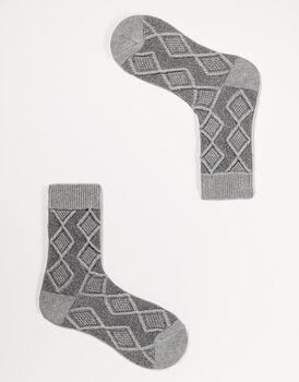 Calzini corti da donna in cotone, grigio melange, , LOVABLE