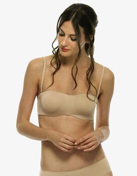 Reggiseno ferretto a fascia senza imbottitura colore skin con spalline staccabili-LOVABLE