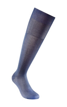 Calza uomo lunga blu Royal in filoscozia liscio-LOVABLE