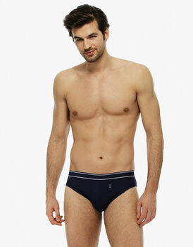 Slip blu navy in cotone modal a costine-LOVABLE