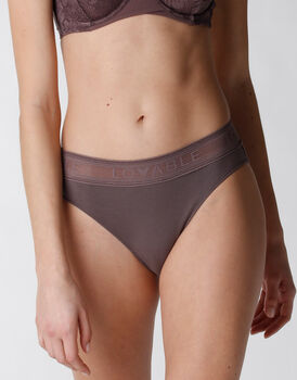 Brasiliano Natural Panties in cotone e modal, marrone, , LOVABLE