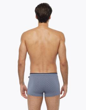 Boxer in cotone modal, azzurro polvere stampato, , LOVABLE