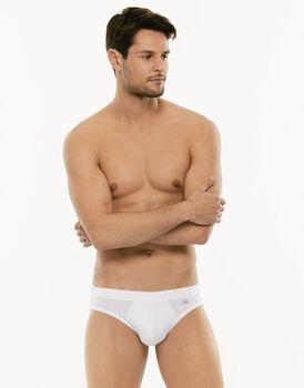 Slip mini Cotton Stretch bianco in cotone elasticizzato-LOVABLE