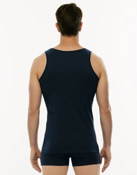 Canotta Cotton Stretch blu in cotone elasticizzato-LOVABLE