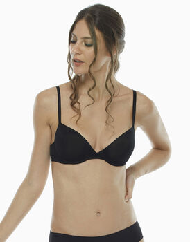 Reggiseno push up Basic Micro, nero, , LOVABLE