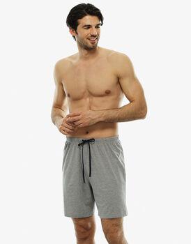 Pantalone corto uomo mix & match, in jersey, grigio melange, , LOVABLE