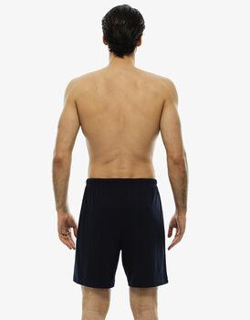 Pantalone corto blu notte in jersey con coulisse in vita-LOVABLE