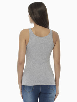 Top spalla larga Basic Soul, grigio melange, in cotone supima-LOVABLE