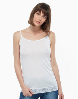 Top in cotone modal, bianco, , LOVABLE
