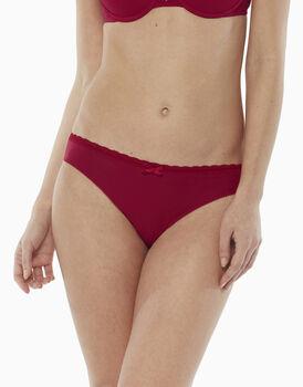 Slip in cotone elasticizzato, rosso, , LOVABLE