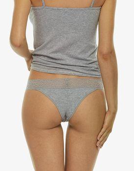 Brasiliano grigio in cotone elasticizzato-LOVABLE