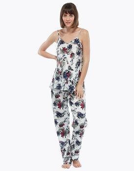 Pantalone lungo, fiore, in satin, , LOVABLE