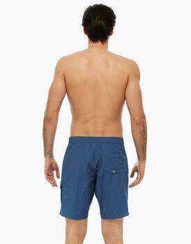 Bermuda blu polvere in tessuto tecnico asciugatura rapida-LOVABLE