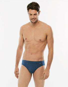 Slip Slub Cotton blu in cotone fiammato-LOVABLE