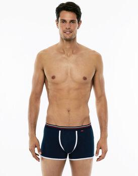 Short Boxer blu navy in cotone elasticizzato-LOVABLE